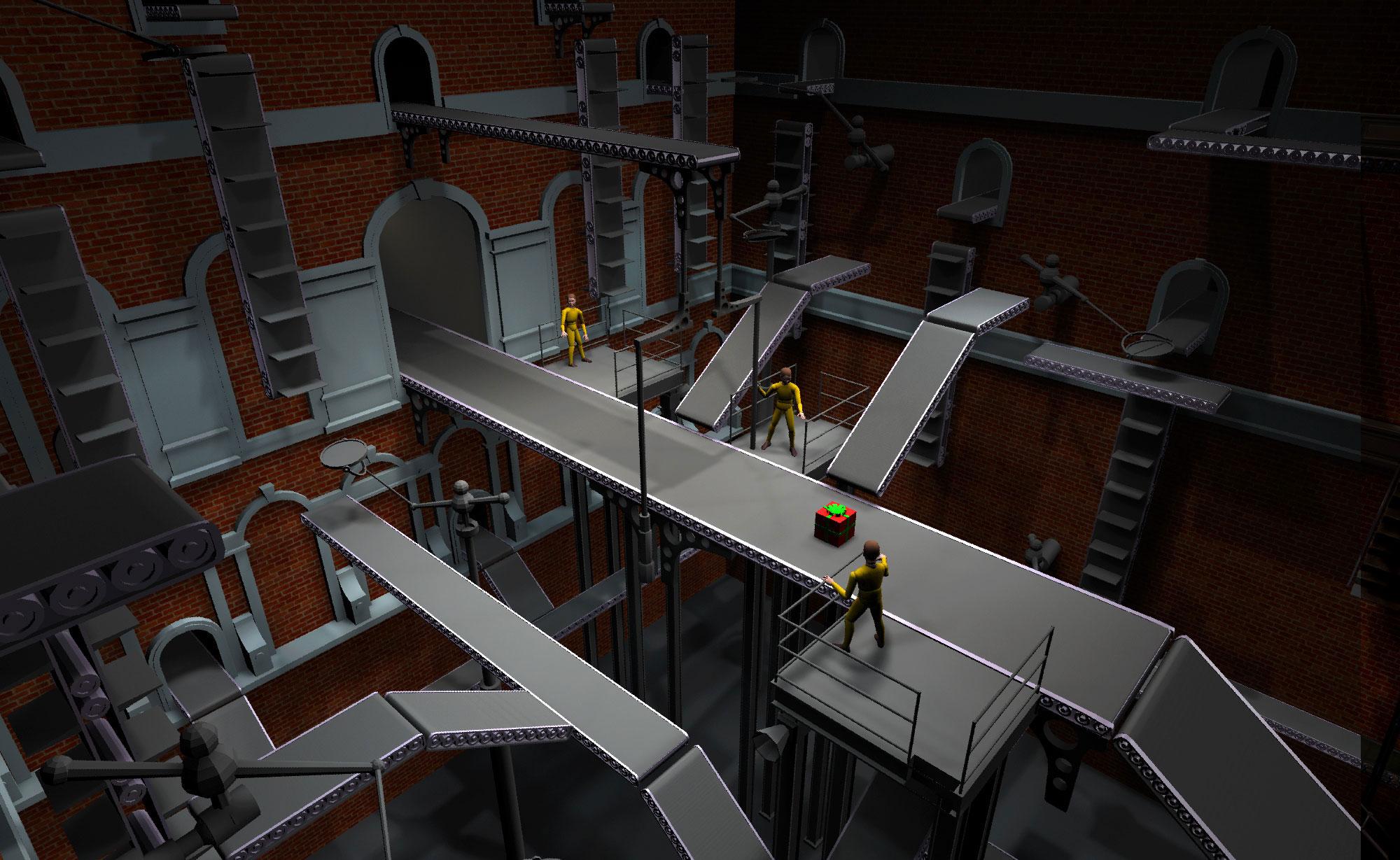 Artist Painting Conveyor Belt